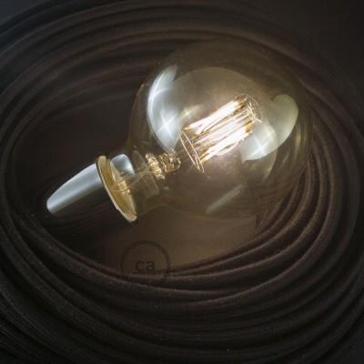 LED-Glühbirne gold - Globo G95 Kurz Filament - 4W E27 Deko Vintage 3000K