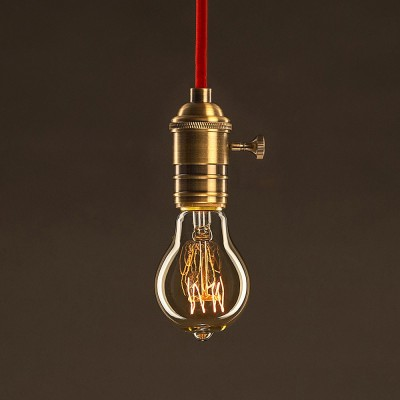 Vintage Glühbirne gold Tropfen A60 Spirale Filament Kohlefaden 30W E27 dimmbar 2000K