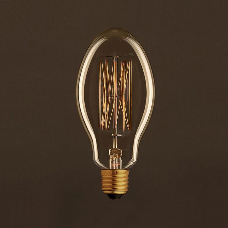 vintage gl hbirne gold kerze e75 vertikaler kohlefaden 30w e27 dimmbar 2000k. Black Bedroom Furniture Sets. Home Design Ideas