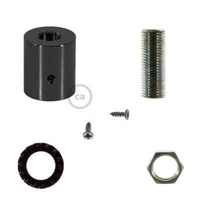 Metallklemme schwarz-metallic für Creative-Tube 16 mm, komplett mit Zubehör