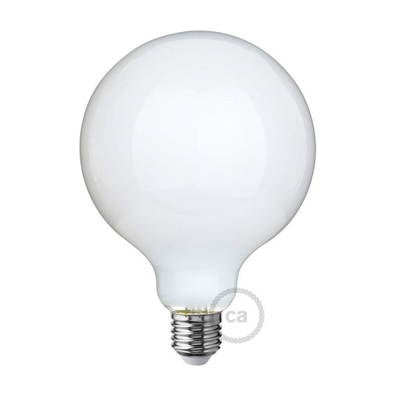 led gl hbirne milchglas globo g125 8w e27 dimmbar 2700k. Black Bedroom Furniture Sets. Home Design Ideas