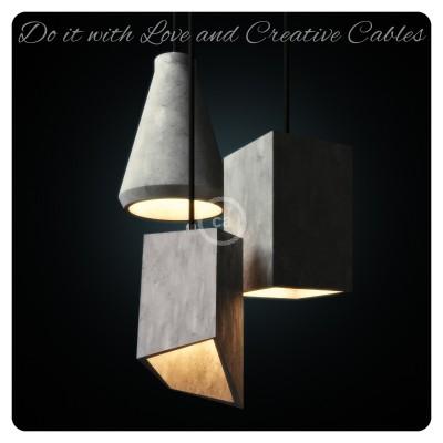 Die neuen Zement-Lampenschirme von Creative-Cables