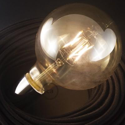 LED-Glühbirne gold - GloboXL G125 Kurz Filament - 4W E27 Deko Vintage 3000K