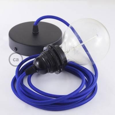 Pendel für Lampenschirm, Hängelampe Blau Seideneffekt RM12
