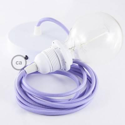 Pendel für Lampenschirm, Hängelampe Lila Seideneffekt RM07