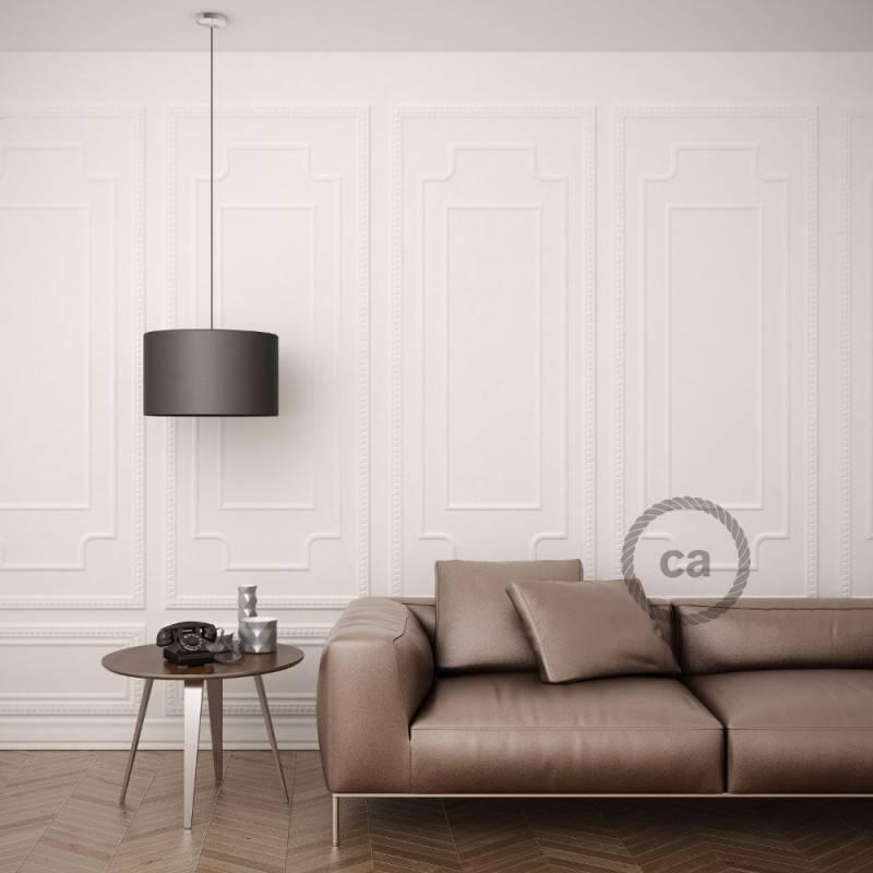 Pendel für Lampenschirm, Hängelampe Dunkel Grün Seideneffekt RM21