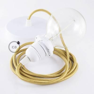 Pendel für Lampenschirm, Hängelampe Gold Seideneffekt RM05