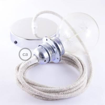 Pendel für Lampenschirm, Hängelampe natürlichem Leinen RN01