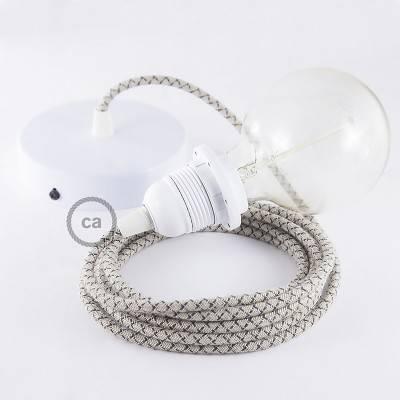 Pendel für Lampenschirm, Hängelampe Raute Antrazit RD64