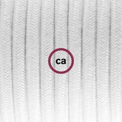 Porzellan Pendelleuchte, Hängelampe Weiß Baumwolle RC01