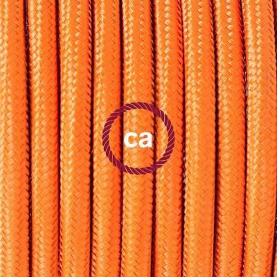 Porzellan Pendelleuchte, Hängelampe Orange Seideneffekt RM15