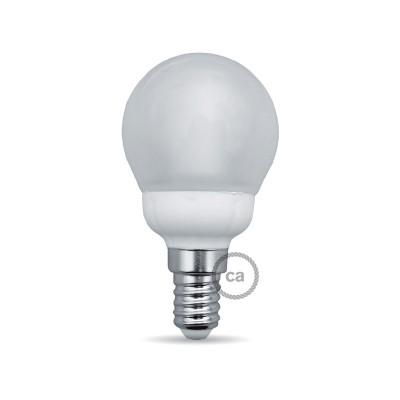 Kugelförmige LED Glühbirne 4W E14 3000K umhüllt von Milchglas
