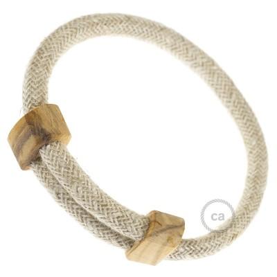 Armband aus natürlichen Leinen Farbe: Neutral RN01 Verschluss: verstellbar