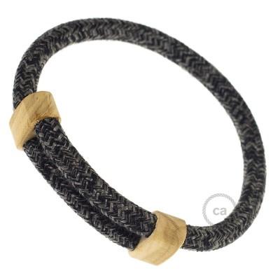Armband aus natürlichen Leinen Farbe: Anthrazit RN03 Verschluss: verstellbar