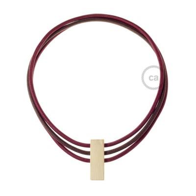 Kabel Collier Circles in Bordeaux RM19, Braun RM13 und Bordeaux RM19.