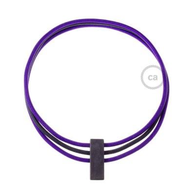 Kabel Collier Circles in Lila RM14 und Schwarz RM04.