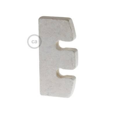 Höhenverstellung für Pendelleuchten aus lackiertem Holz: weiß Made in Italy.