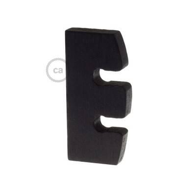 Höhenverstellung für Pendelleuchten aus lackiertem Holz: schwarz Made in Italy.