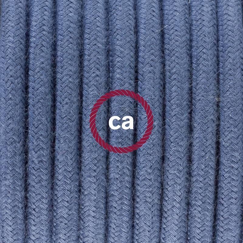 Zuleitung für Tischleuchten RC30 Steingrau Baumwolle 1,80 m. Wählen Sie aus drei Farben bei Schalter und Stecke.
