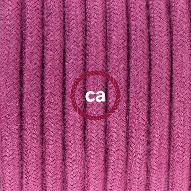 Zuleitung für Tischleuchten RC32 Burgund Baumwolle 1,80 m. Wählen Sie aus drei Farben bei Schalter und Stecke.