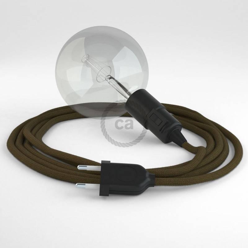Kreieren sie ihre Snake Leuchte mit dem RC13 Braun Baumwolle und erleuchten sie ihre Umgebung.