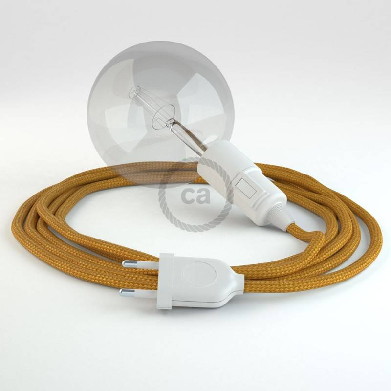 Kreieren sie ihre Snake Leuchte mit dem RM05 Gold Seideneffekt und erleuchten sie ihre Umgebung.