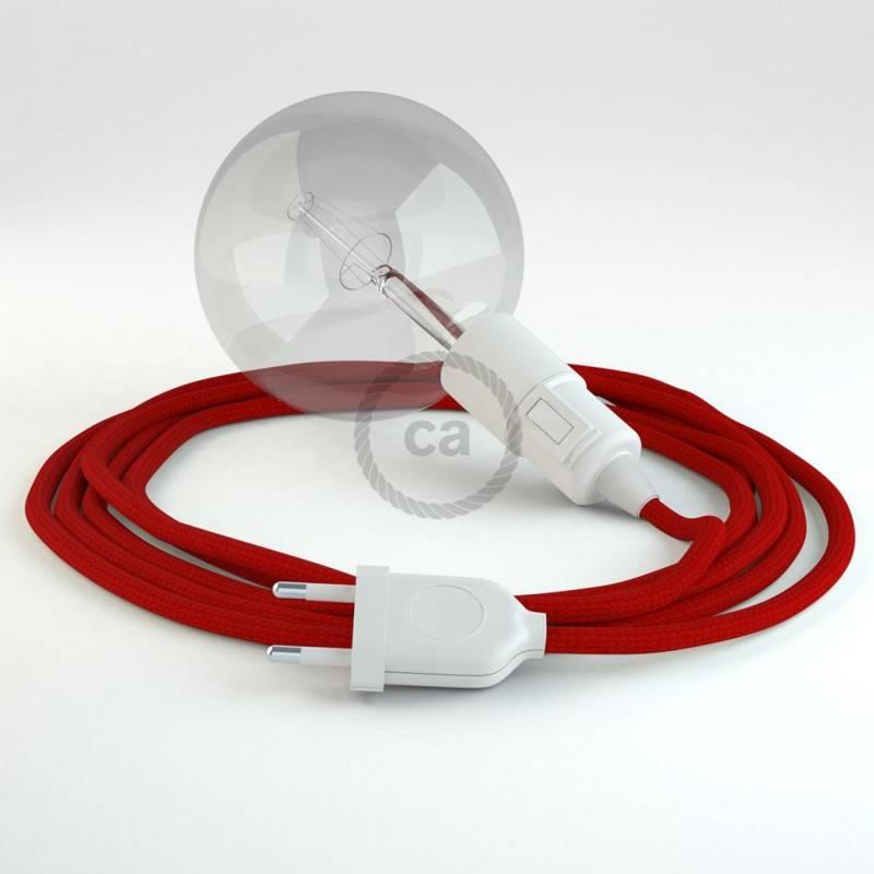 Kreieren sie ihre Snake Leuchte mit dem RM09 Rot Seideneffekt und erleuchten sie ihre Umgebung.