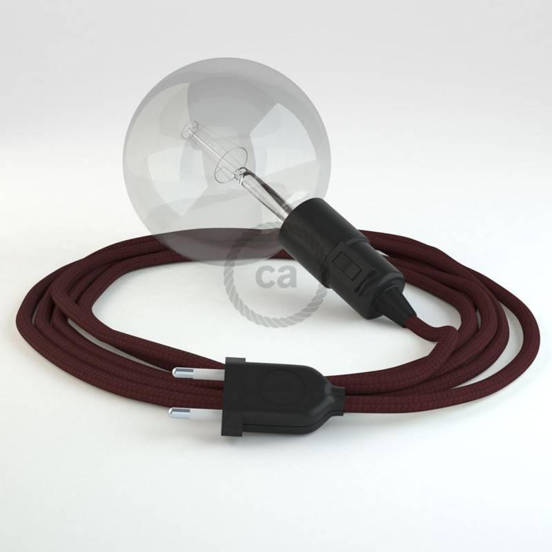 Kreieren sie ihre Snake Leuchte mit dem RM19 Bordeaux Seideneffekt und erleuchten sie ihre Umgebung.