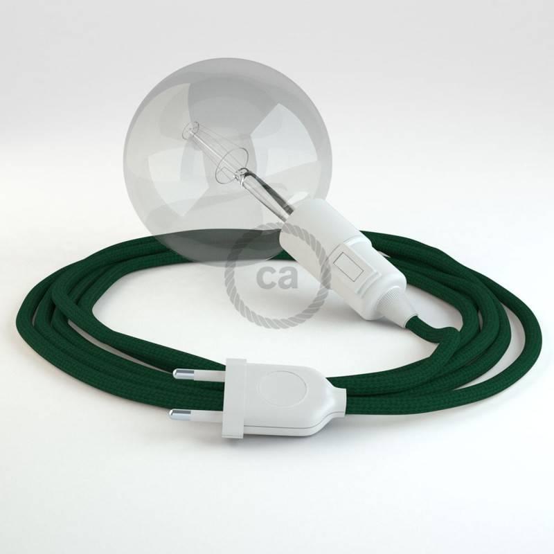 Kreieren sie ihre Snake Leuchte mit dem RM21 Dunkel Grün Seideneffekt und erleuchten sie ihre Umgebung.