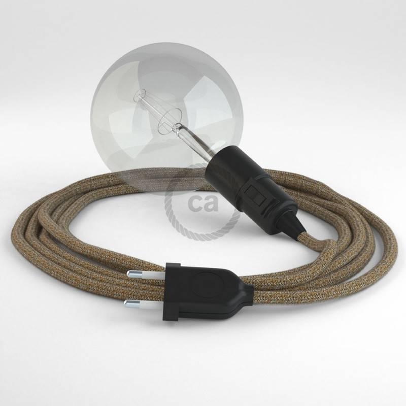 Kreieren sie ihre Snake Leuchte mit dem RS82 Braun Geglittert Natürlichem Leinen und erleuchten sie ihre Umgebung.