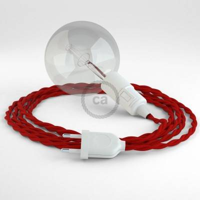 Kreieren sie ihre Snake Leuchte mit dem TM09 Rot Seideneffekt und erleuchten sie ihre Umgebung.
