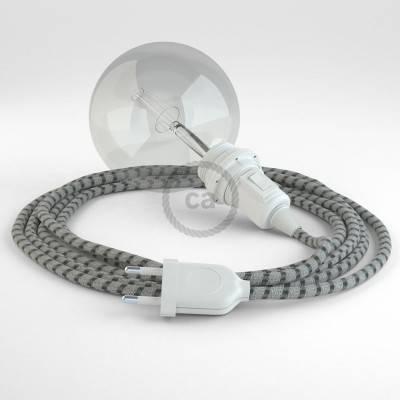 Kreieren sie ihre Snake Lampenschirm Leuchte mit dem RD54 Stripes Antrazit und erleuchten sie ihre Umgebung.