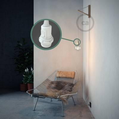 Kreieren sie ihre Snake Lampenschirm Leuchte mit dem RM01 Weiß Seideneffekt und erleuchten sie ihre Umgebung.