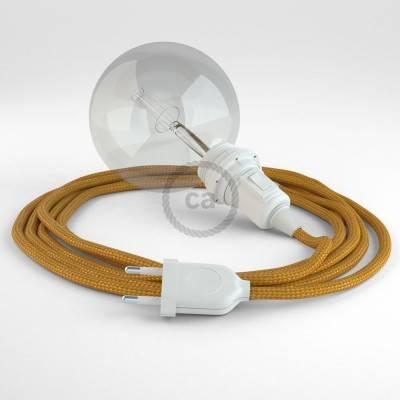Kreieren sie ihre Snake Lampenschirm Leuchte mit dem RM05 Gold Seideneffekt und erleuchten sie ihre Umgebung.
