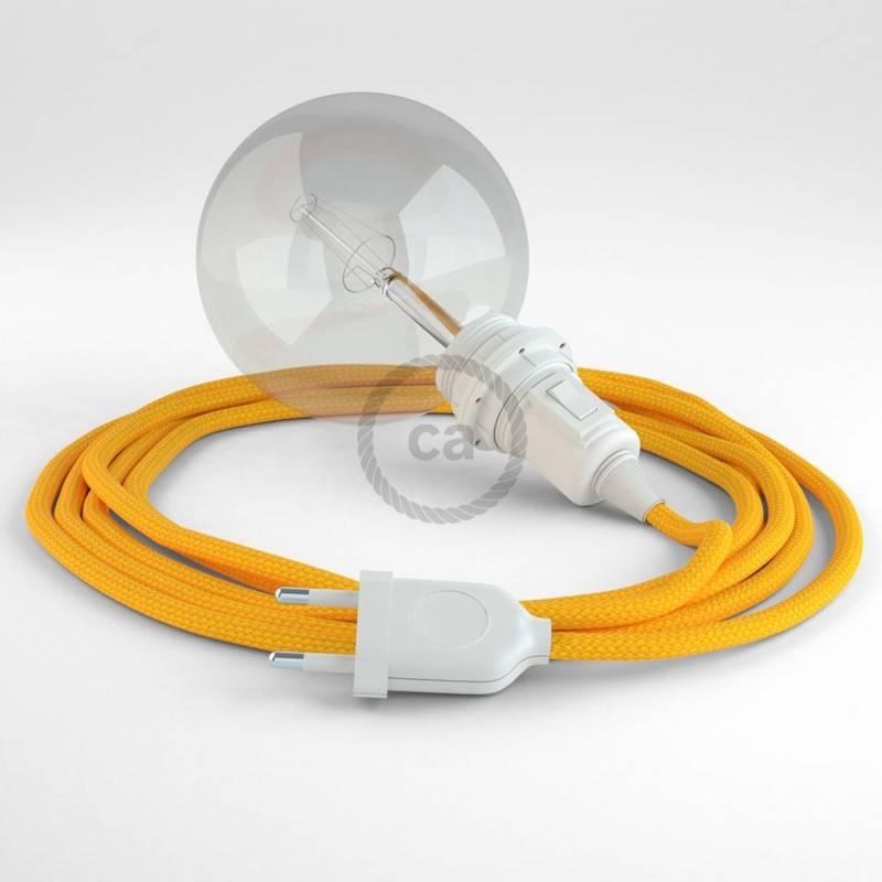 Kreieren sie ihre Snake Lampenschirm Leuchte mit dem RM10 Gelb Seideneffekt und erleuchten sie ihre Umgebung.