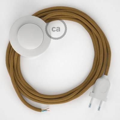 Stehleuchte Anschlussleitung RC31 Goldener Honig Baumwolle 3 m. Wählen Sie aus drei Farben bei Schalter und Stecke.