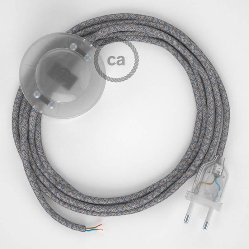Stehleuchte Anschlussleitung RD65 Raute Blau 3 m. Wählen Sie aus drei Farben bei Schalter und Stecke.