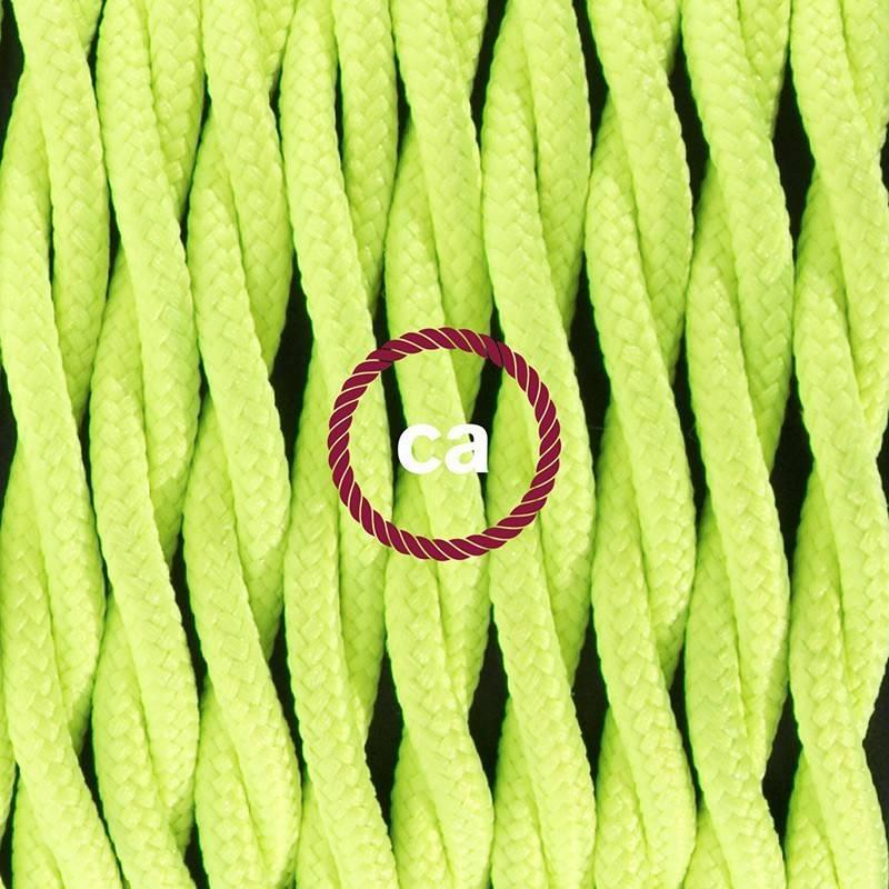 Stehleuchte Anschlussleitung TF10 Gelb Fluoreszierend Seideneffekt 3 m. Wählen Sie aus drei Farben bei Schalter und Stecke.