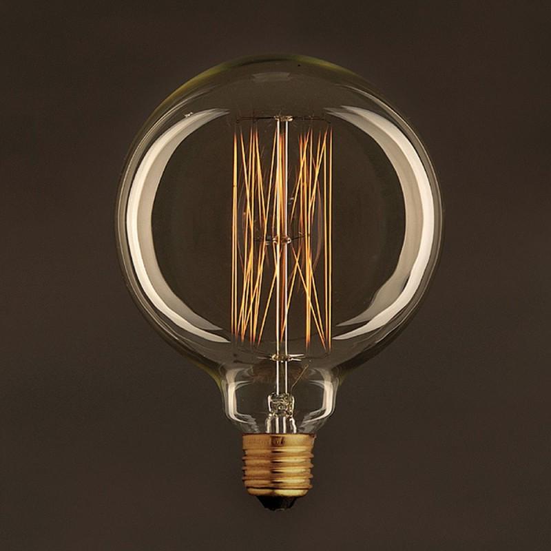 vintage gl hbirne gold globo g125 vertikaler kohlefaden 25w e27 dimmbar 2000k. Black Bedroom Furniture Sets. Home Design Ideas
