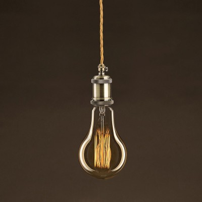 Vintage Glühbirne gold Tropfen A95 vertikaler Kohlefaden 25W E27 dimmbar 2000K