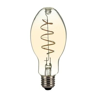 LED Glühbirne gold E75 Kerze Curved und Spirale Filament 4W E27 dimmbar 2000K