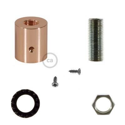 Metallklemme kupfer für Creative-Tube 16 mm, komplett mit Zubehör