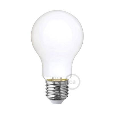 Tropfenförmige LED-Glühbirne Milchglas A60 5W E27 dimmbar 2700K