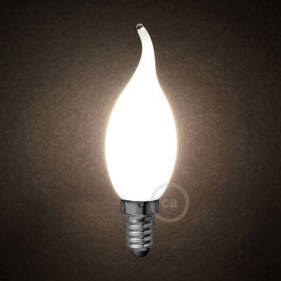LED-Glühbirne Milchglas Windstoß C35 4W E14 dimmbar 2700K