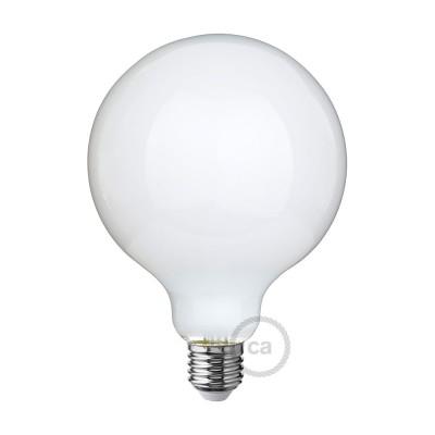 LED-Glühbirne Milchglas Globo G125 8W E27 dimmbar 2700K
