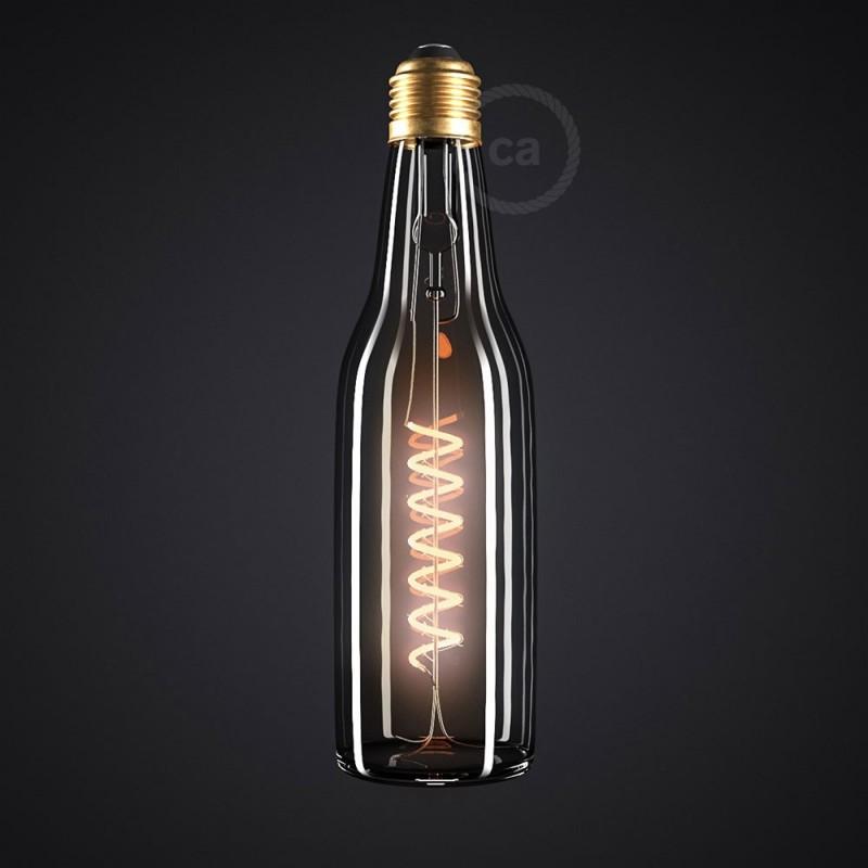 LED Lampe Beer klar 8W E27 dimmbar 2200K