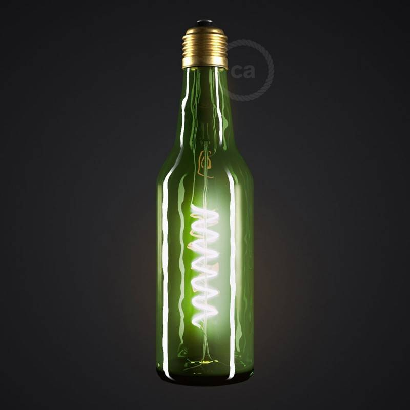 LED Lampe Beer grün 8W E27 dimmbar 2800K