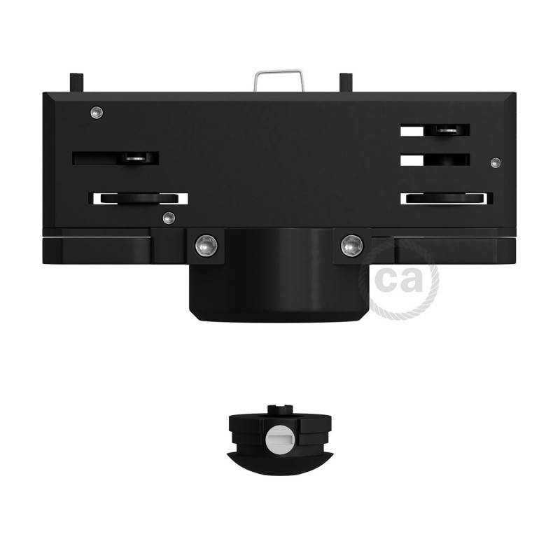 Multi Eutrac-Aufhängeadapter für dreiphasige Schiene in schwazer Farbe