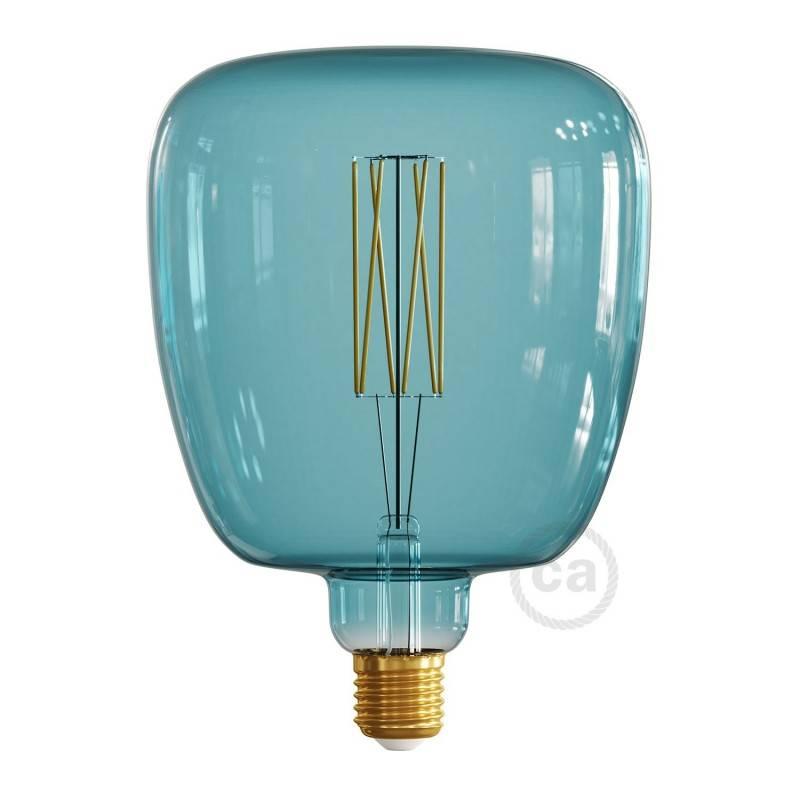 LED-Glühbirne XXL Bona ozeanblau (Ocean Blue) gerades Filament 4W E27 dimmbar 2200K