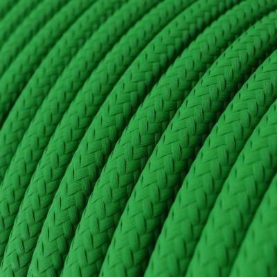 Textilkabel rund, grün mit Seideneffekt, RM06